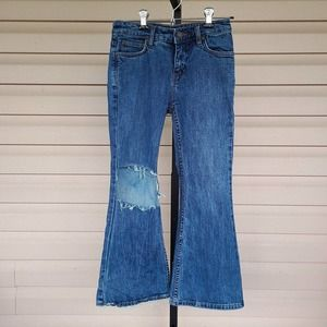 Free People Flare destroyed jeans Sz 24